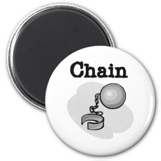Ball and Chain Bride Magnet
