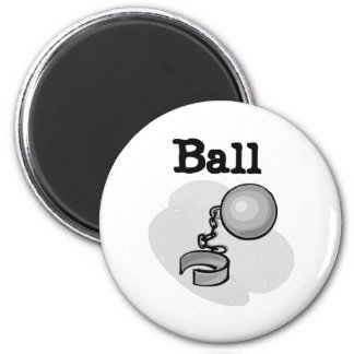 Ball and Chain Groom Magnet