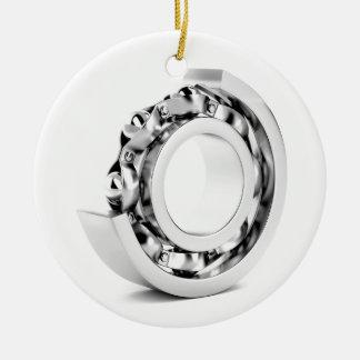 Ball bearing round ceramic ornament