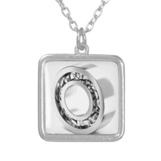 Ball bearing silver plated necklace