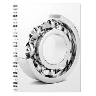 Ball bearing spiral notebook