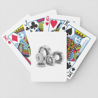 Ball bearings with different sizes bicycle playing cards