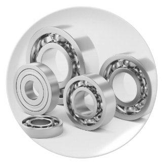 Ball bearings with different sizes plate