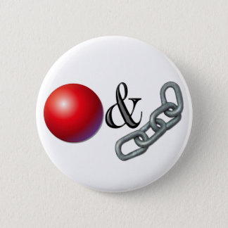 Ball & Chain 2 Inch Round Button