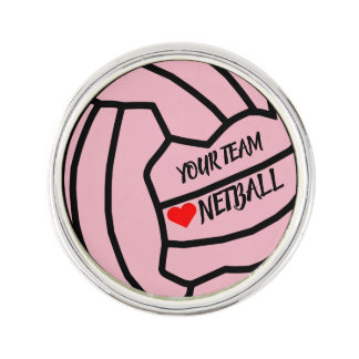 Ball Design Custom Netball Team Lapel Pin
