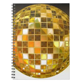 Ball Disco Ball Jump Dance Light Party Disco Spiral Notebook