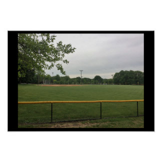 Ball Field in the Distance Poster