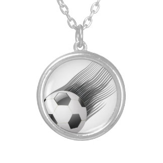 ball icon silver plated necklace