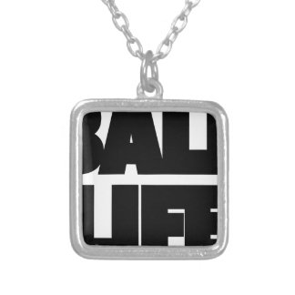 Ball Life Silver Plated Necklace