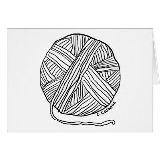 Ball o' Yarn Card