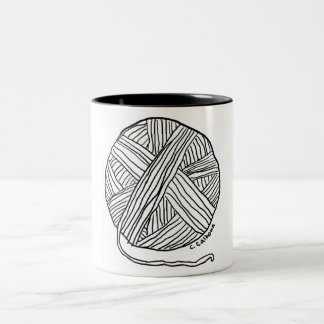 Ball o' Yarn Two-Tone Coffee Mug