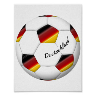 Ball of GERMANY SOCCER national team 2014 Poster