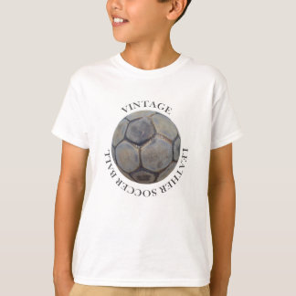 Ball of Vintage soccer in T-Shirt, Target T-Shirt
