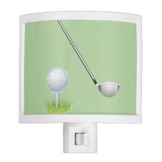Ball On Tee on the Green & Putter Night Lights