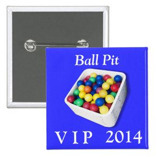 Ball Pit VIP 2 Inch Square Button