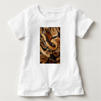 Ball Python is a work of Art Baby Romper