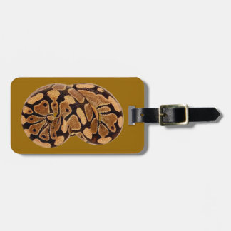 Ball Python Luggage Tag