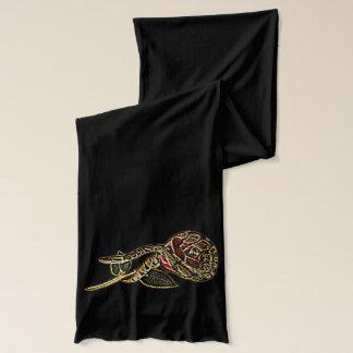 Ball Python Snake and Rose Fashion Scarf