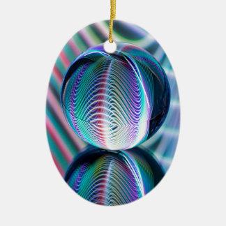 Ball Reflect 5 Ceramic Ornament