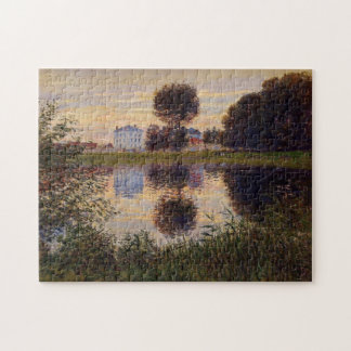 Ball Shaped Tree, Argenteuil Monet Fine Art Jigsaw Puzzle