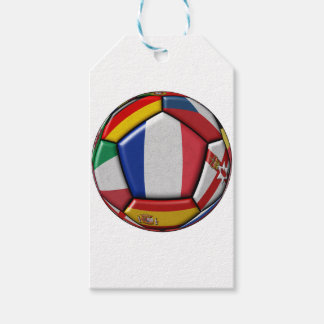 Ball with various flags gift tags