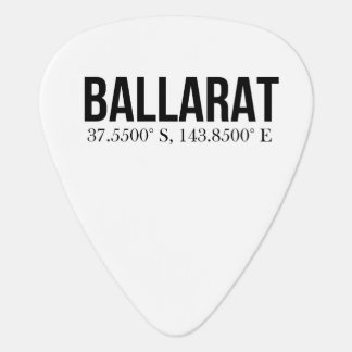 Ballarat Tourism Shop Coordinates Guitar Pick