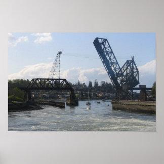 Ballard Locks - Seattle, WA Poster