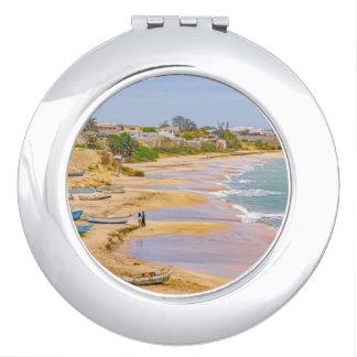Ballenita Beach Santa Elena Ecuador Compact Mirror