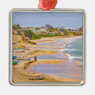 Ballenita Beach Santa Elena Ecuador Silver-Colored Square Ornament
