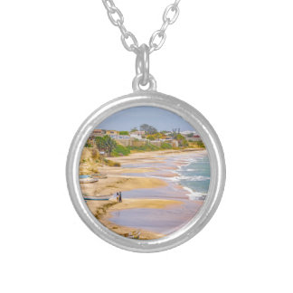 Ballenita Beach Santa Elena Ecuador Silver Plated Necklace