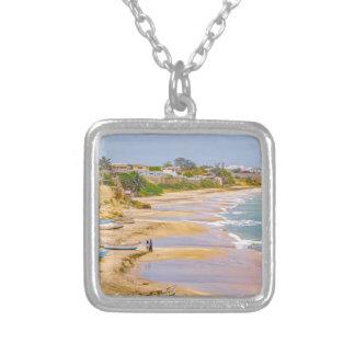 Ballenita Beach Santa Elena Ecuador Silver Plated Necklace