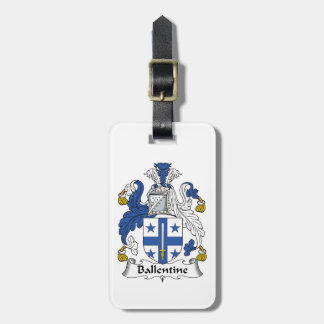 Ballentine Family Crest Luggage Tag