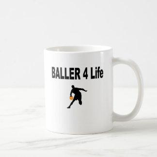 Baller 4 Life Classic White Coffee Mug
