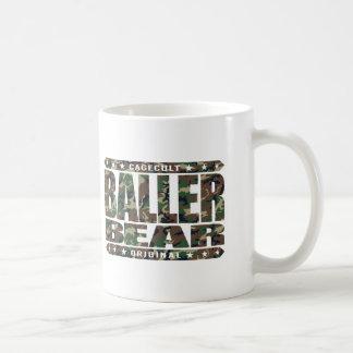 BALLER BEAR - Hairy, Gangster Men Rule The World Basic White Mug