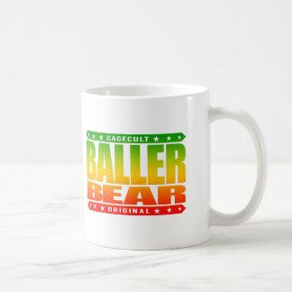 BALLER BEAR - Hairy, Gangster Men Rule The World Classic White Coffee Mug