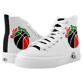 Baller Brothers basketball high top sneakers RBG