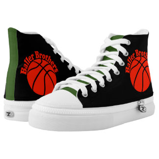 Baller Brothers basketball RBG high top sneakers
