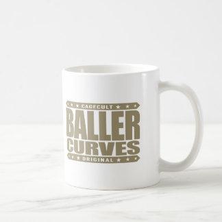 BALLER CURVES - Dangerous Gangster Curves Ahead Basic White Mug