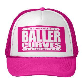 BALLER CURVES - Dangerous Gangster Curves Ahead Trucker Hat
