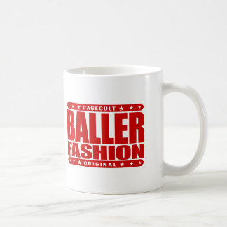 BALLER FASHION - Gangster Runaway on the Runway Basic White Mug
