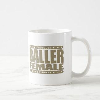 BALLER FEMALE - Women's Gender Equality Fighter Basic White Mug