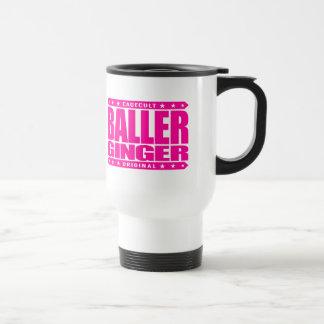 BALLER GINGER - Fiery Red-Haired Gangster Warrior 15 Oz Stainless Steel Travel Mug