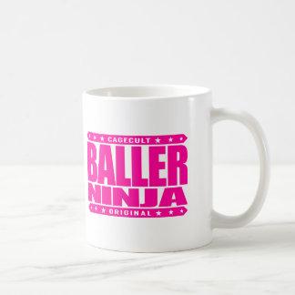 BALLER NINJA - Athletic Flexible Stealth Gangster Basic White Mug