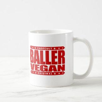 BALLER VEGAN - Living a Plant-Based Gangster Life Basic White Mug