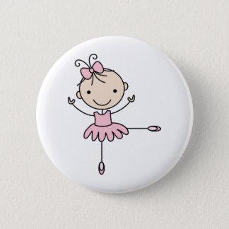 Ballerina 2 Inch Round Button