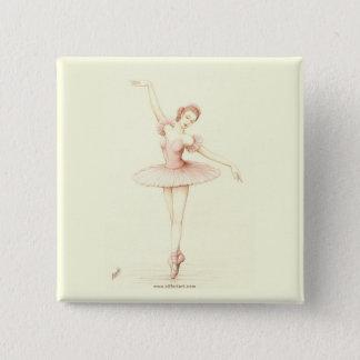 Ballerina 2 Inch Square Button