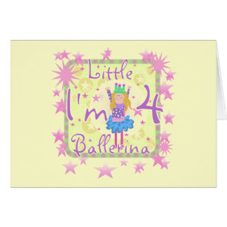 Ballerina 4th Birthday Tshirts and Gifts Card