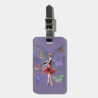 Ballerina and Butterflies Luggage Tag