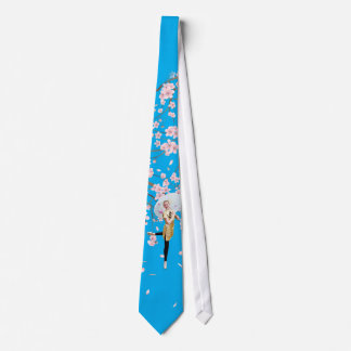 Ballerina and Cherry Blossoms Tie