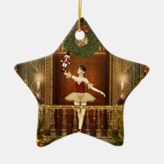 Ballerina and Nutcracker Christmas Star Ornament